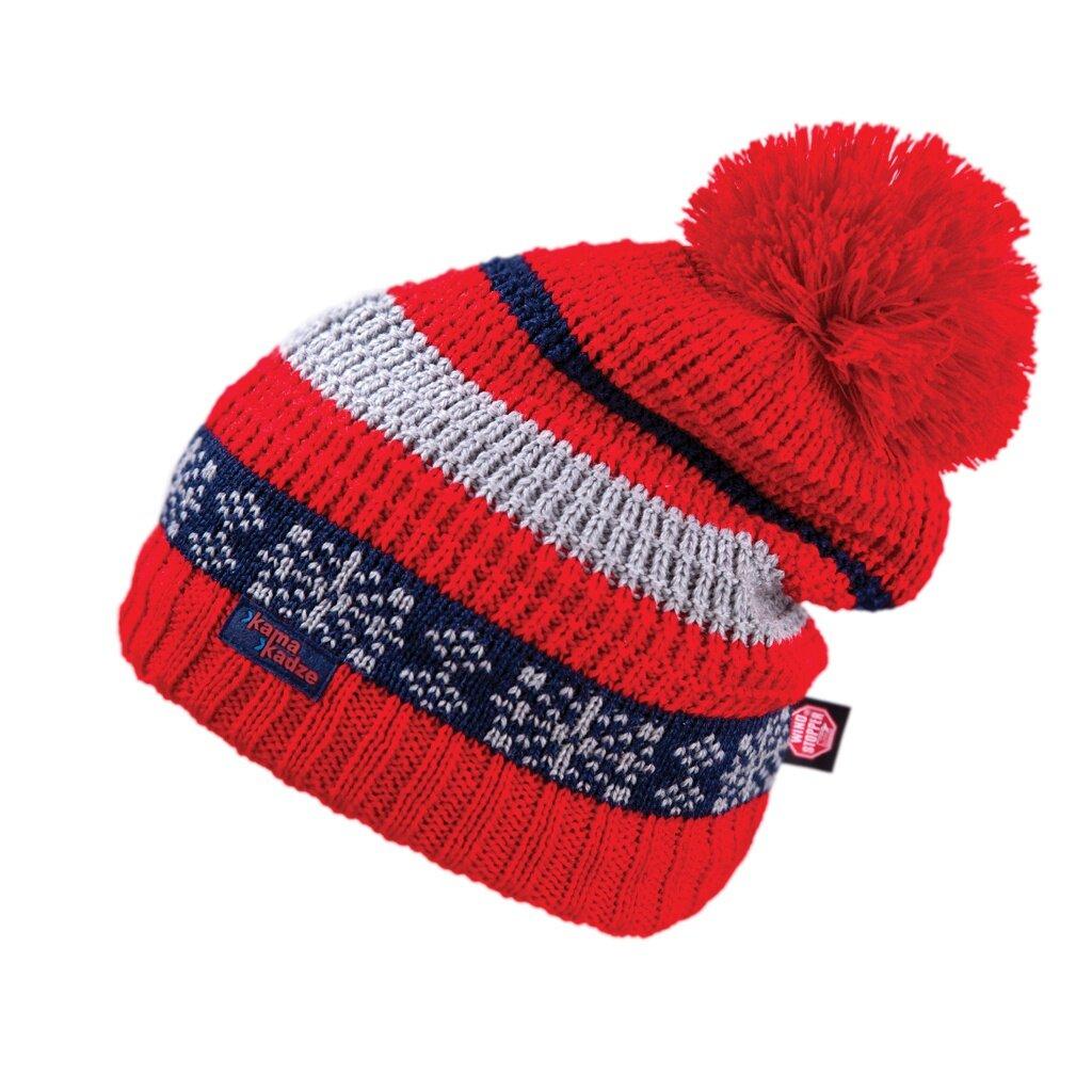 Pletená čepice merino KAMA KW04 Gore Windstopper Červená - Ovečkárna.cz 852ed918a4